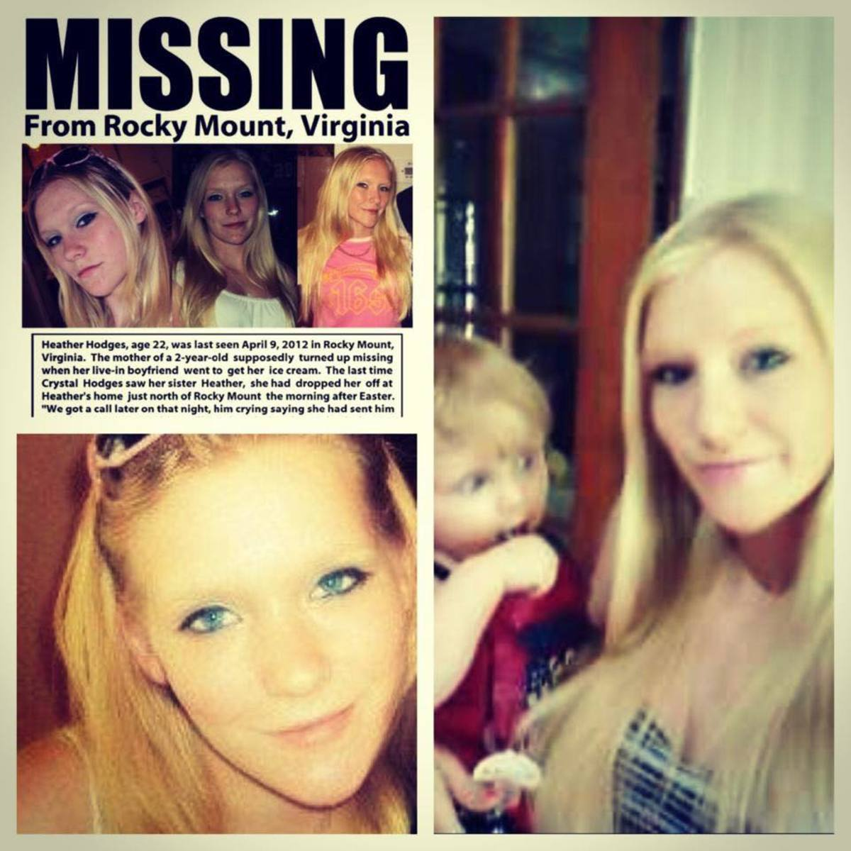 Heather Hodges disappeared in 2012.