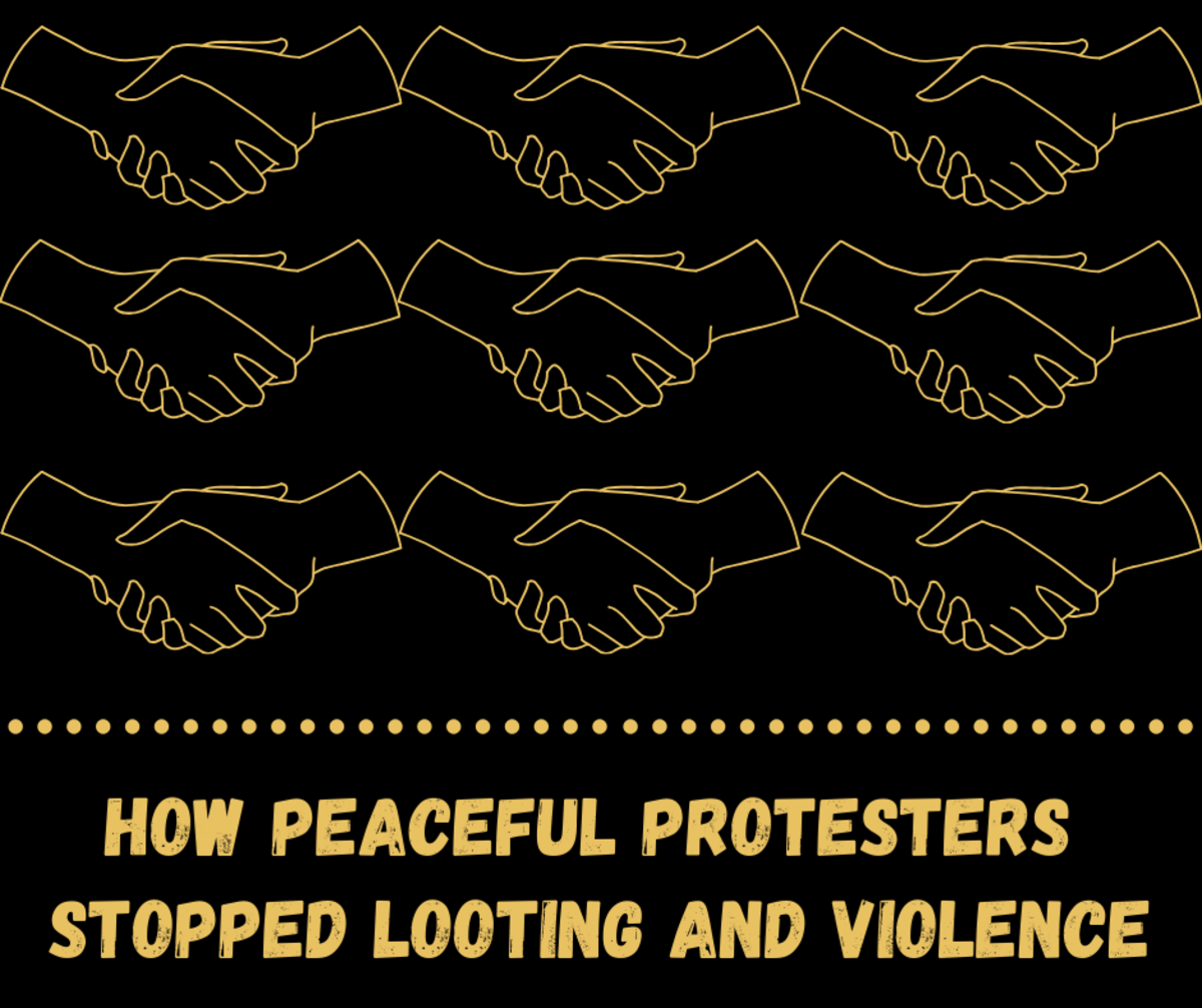 Peaceful Protesters Form Human Chains to Stop Looting and Violence