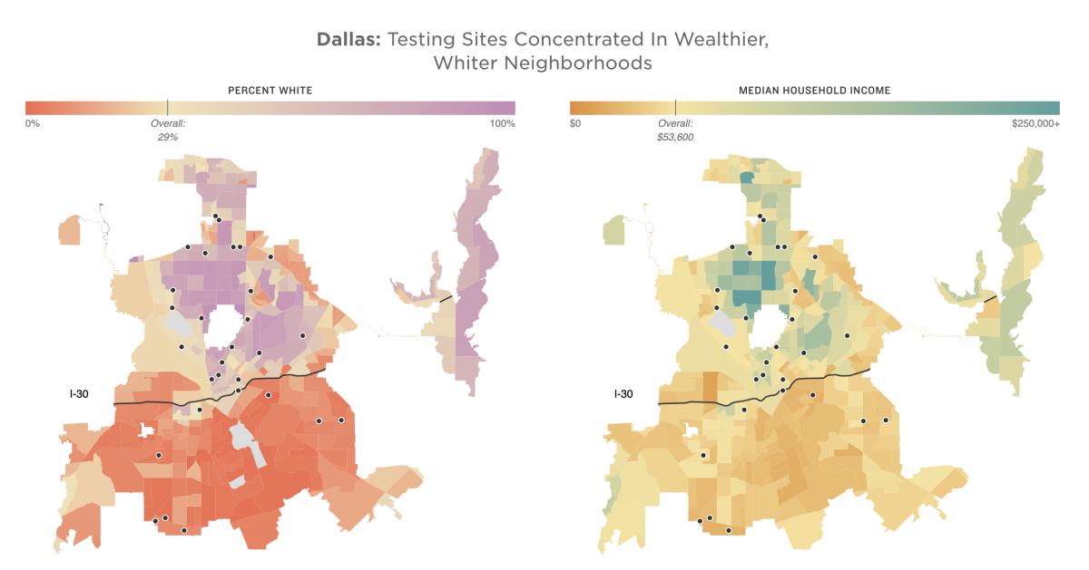 Testing Site Locations in Dallas, TX