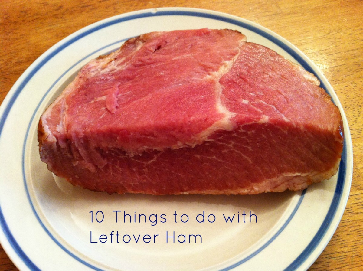 There are lots of things you can do with leftover ham!
