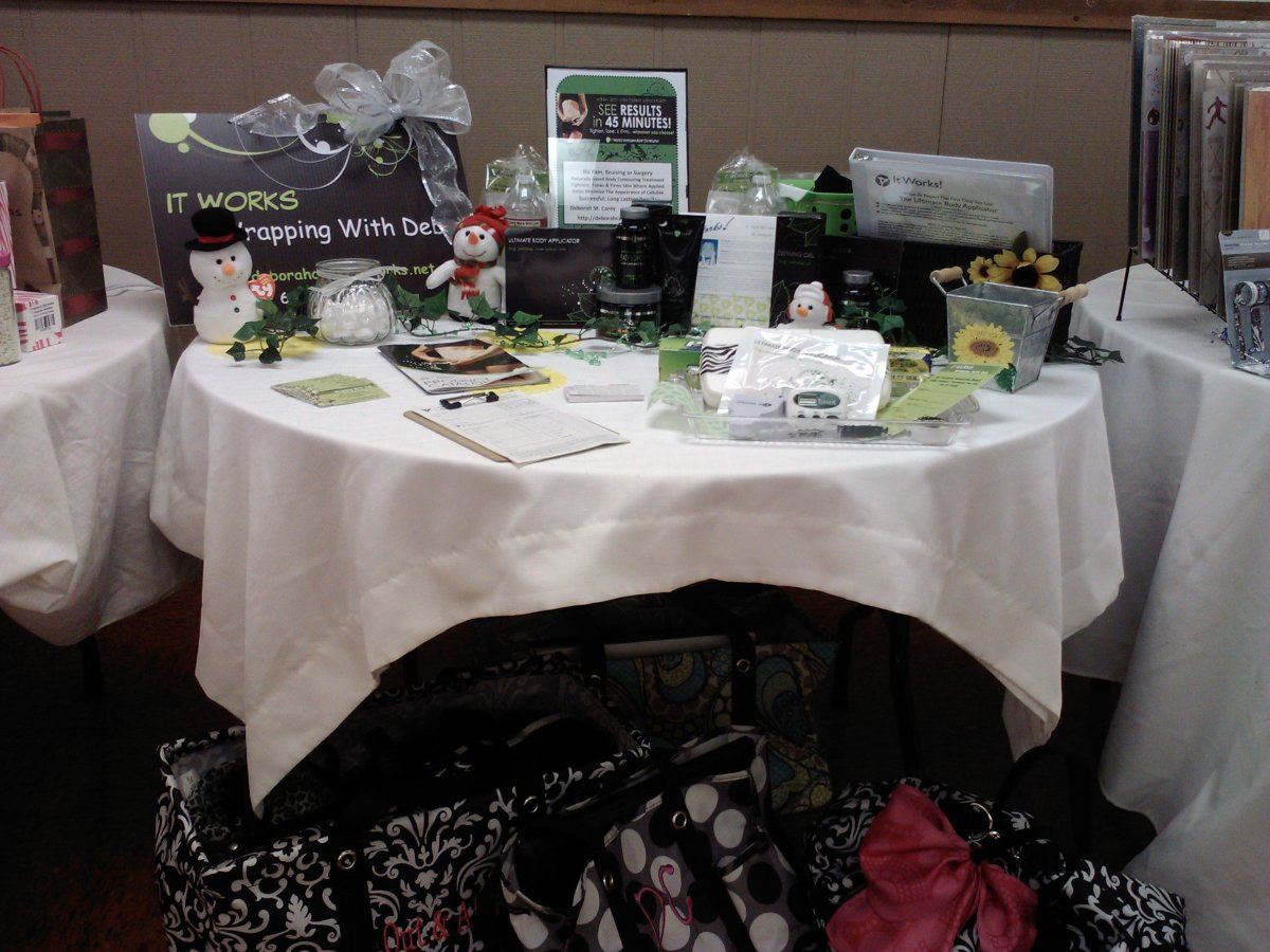 Here is my display at the Sunflower Paddle Party in January 2012.  An opportunity to network and showcase products make paddle parties a great way to get new customers!