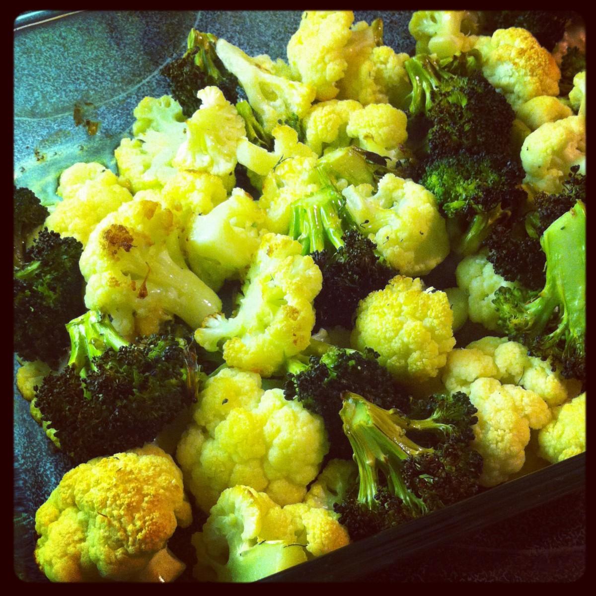Kid-friendly broccoli and cauliflower.