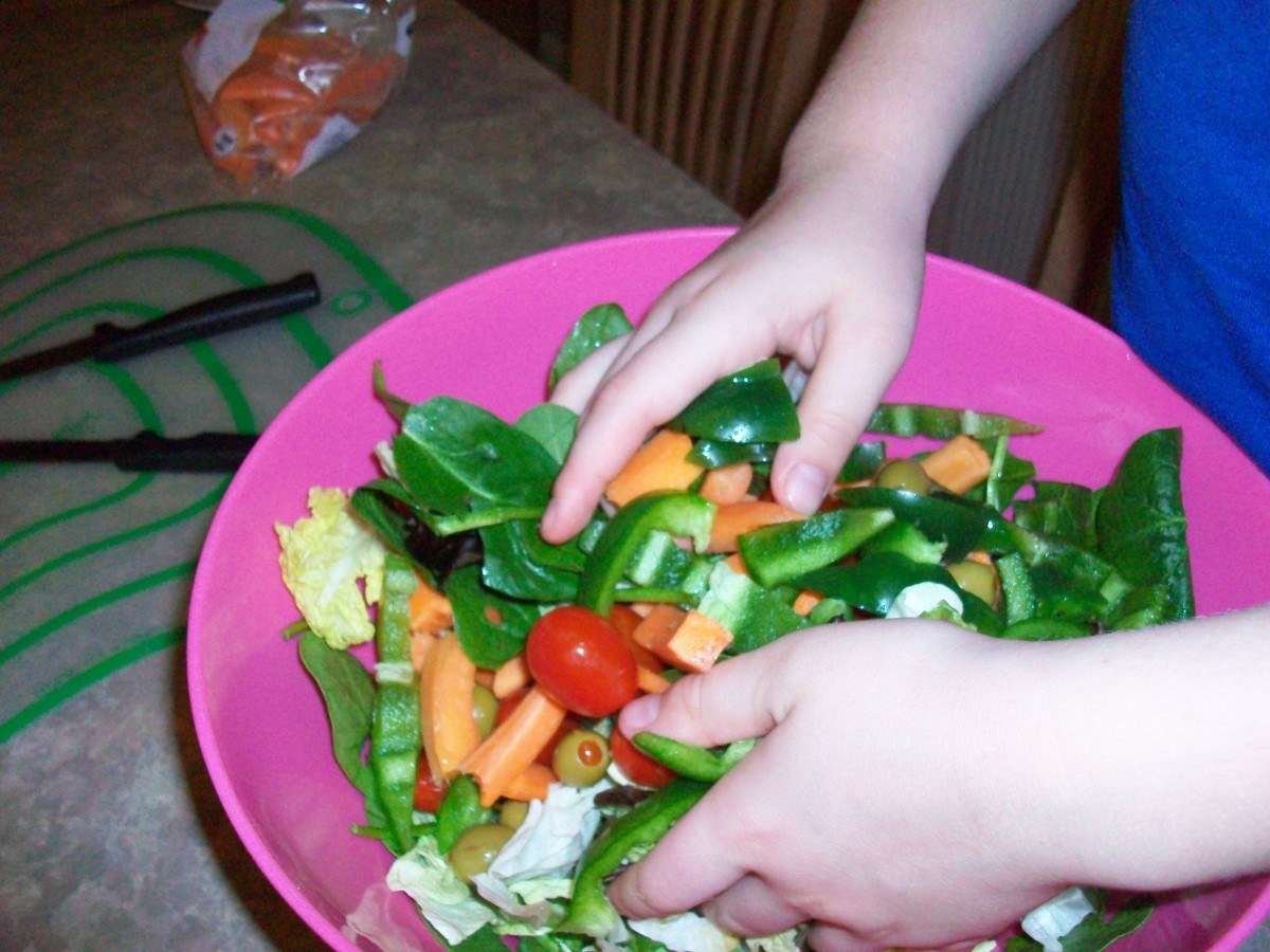 Salad is only one of many vegetarian meal options.
