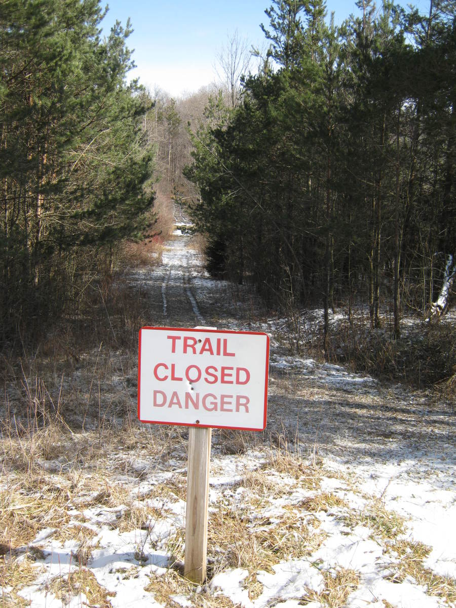 Sorry folks, the trail is closed.  You'll have to come back when you are properly dressed.