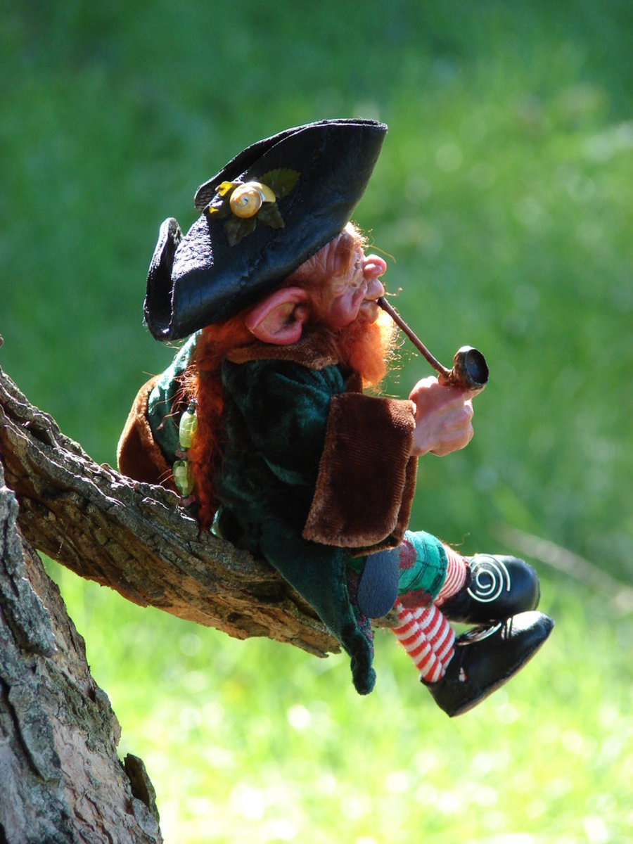 Seamus the Leprechaun. 'Can I help ya lady?' Begora, are ye after ma gold?