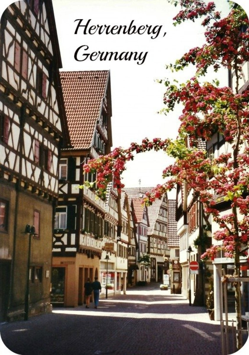 Herrenberg, Germany Photos ~ 13th Century Town, Historic Church with Bell Museum & Cross-Timbered Houses