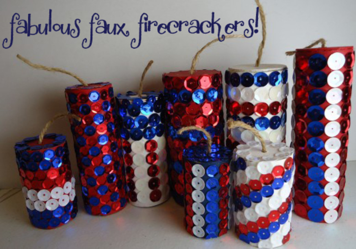 DIY firecracker décor for the 4th of July