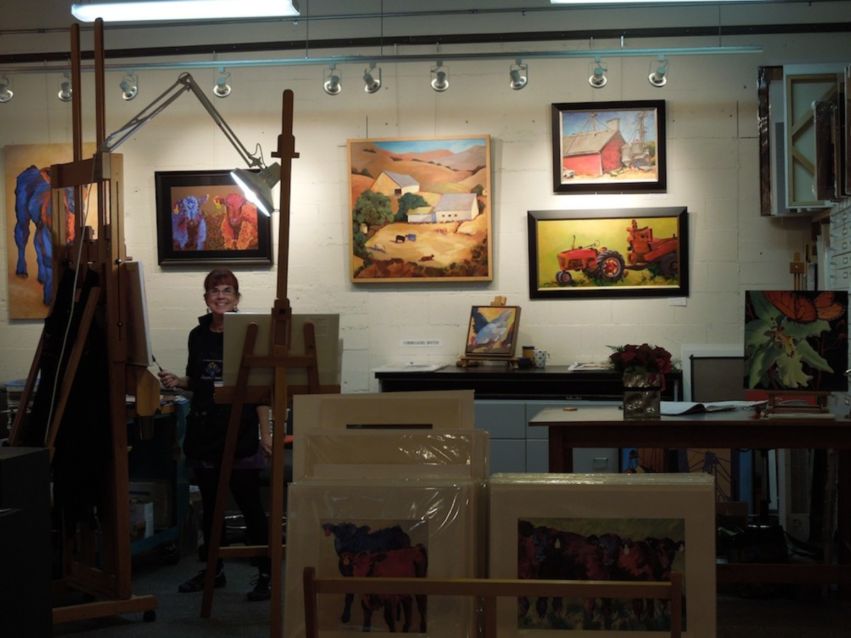 Anne Laddon in her studio, December, 2011/