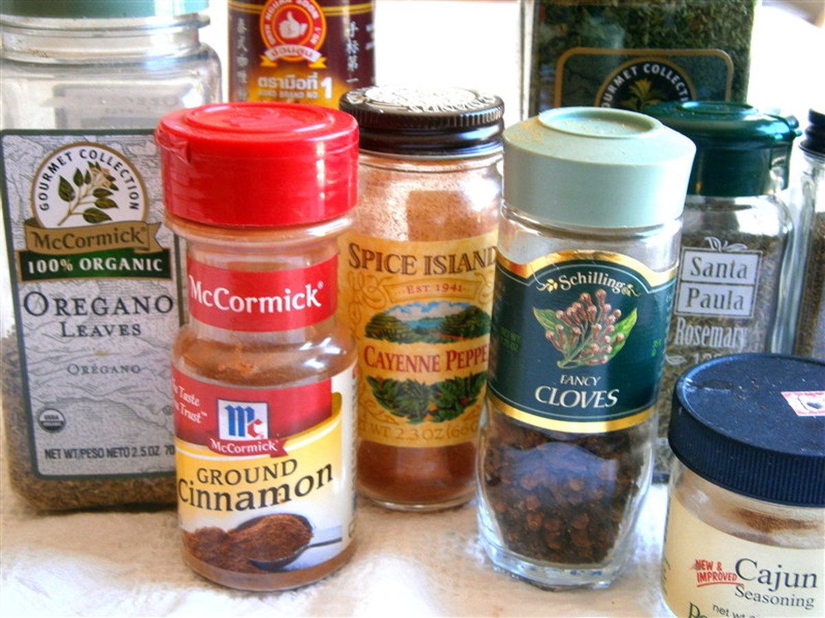 I ransacked my pantry and came up with this rather motley mob of versatile spices. There are more hiding in the cabinet but these will do.