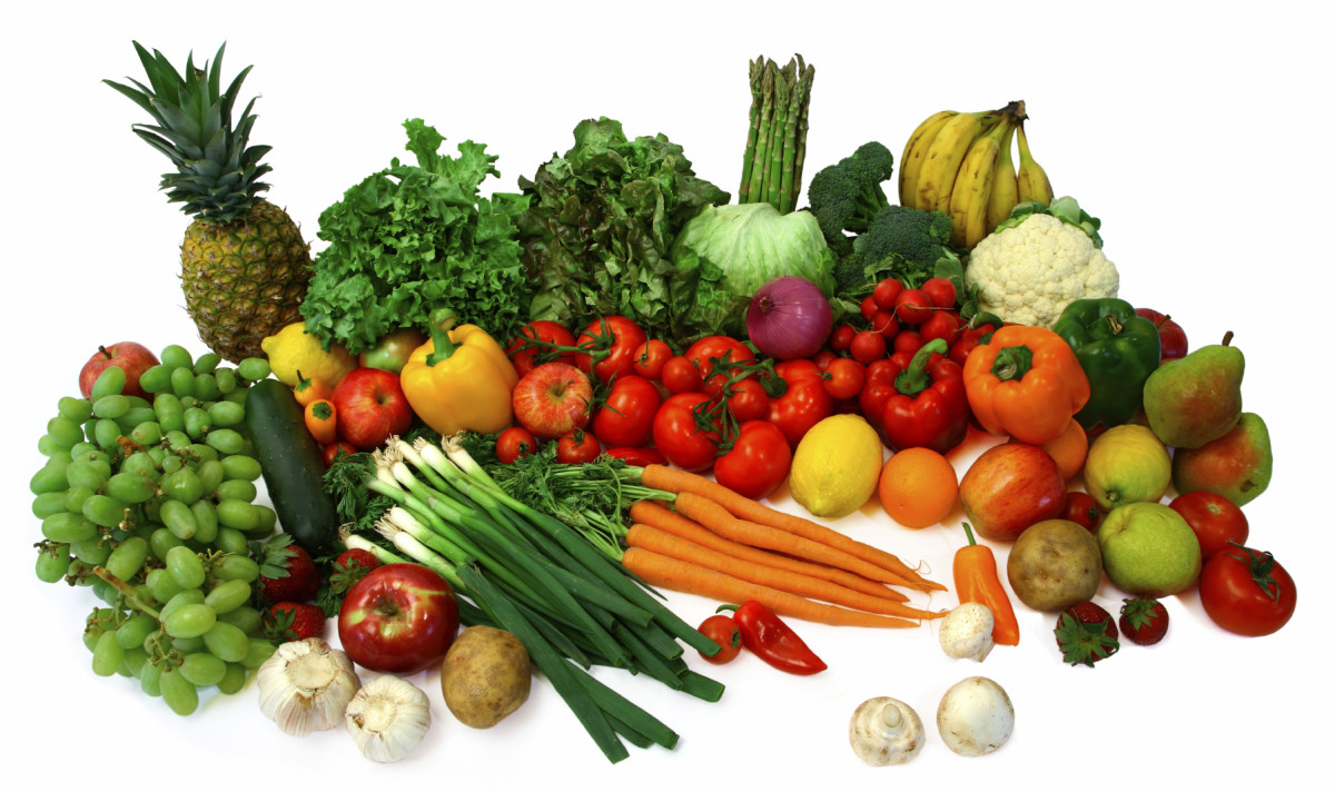 I eat a lot of fruits and vegetables.