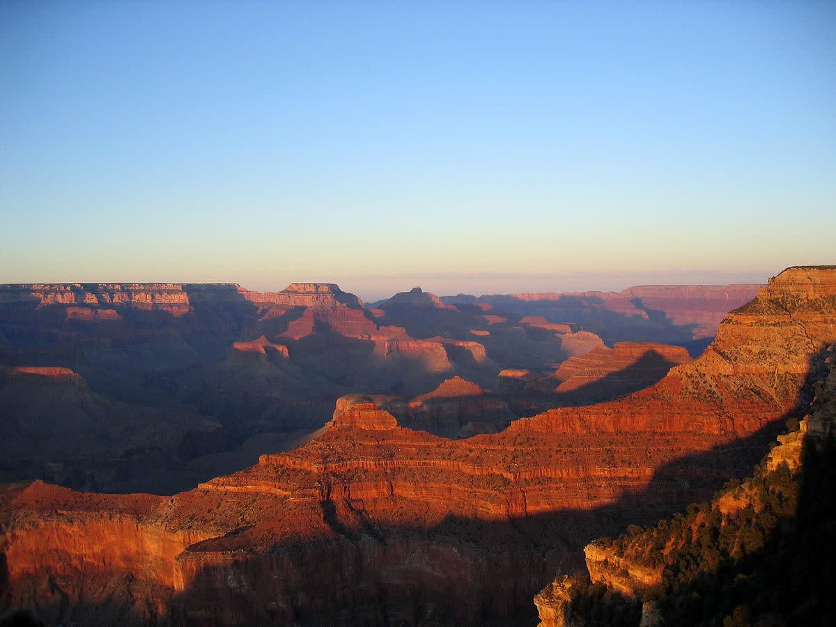Amazing sedimentary rocks in the Grand Canyon, Arizona.