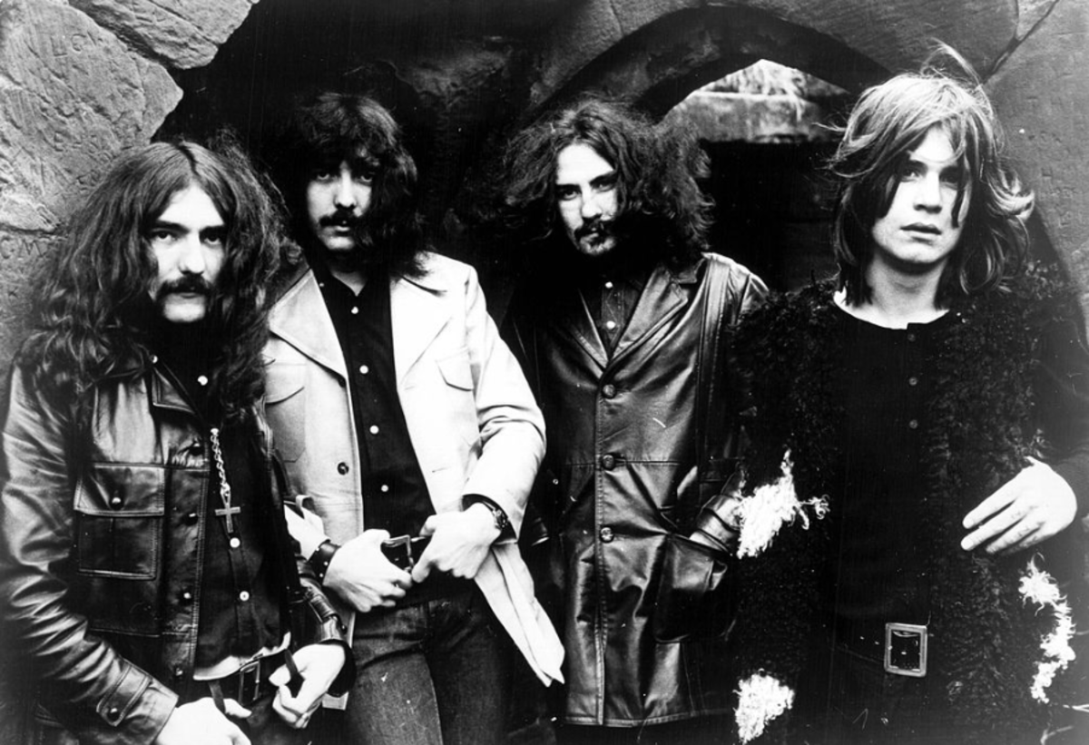 Tony Iommi (second from left) with Black Sabbath, early 1970s