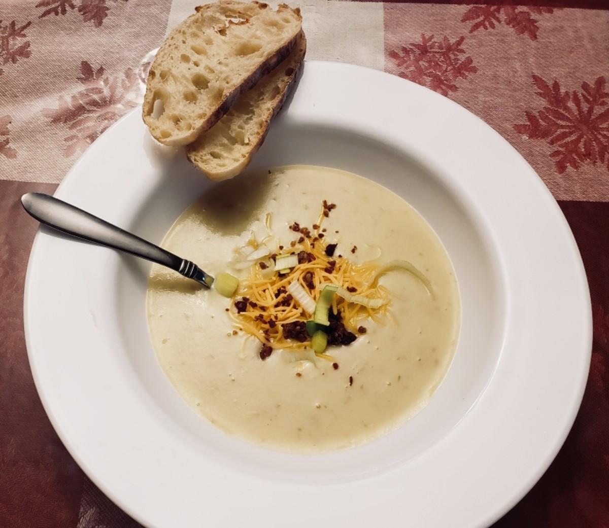 Potato Leek Soup in Your Instant Pot!