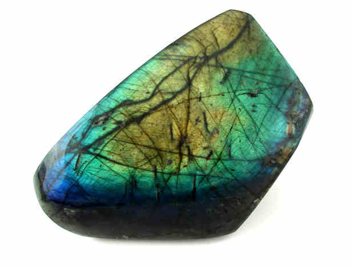 Beautiful polished labradorite.