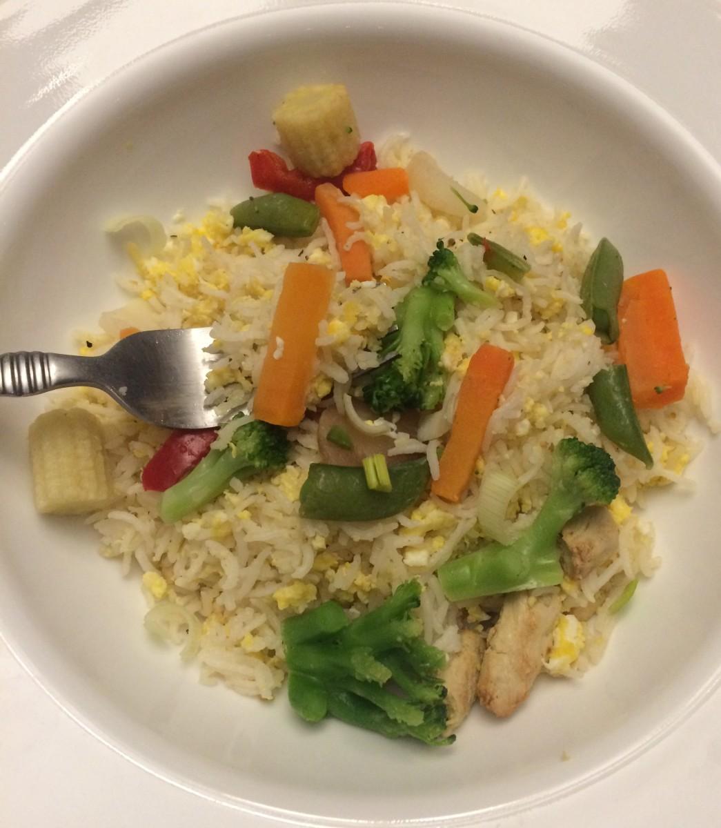 Homemade Hibachi Chicken & Fried Rice Recipe