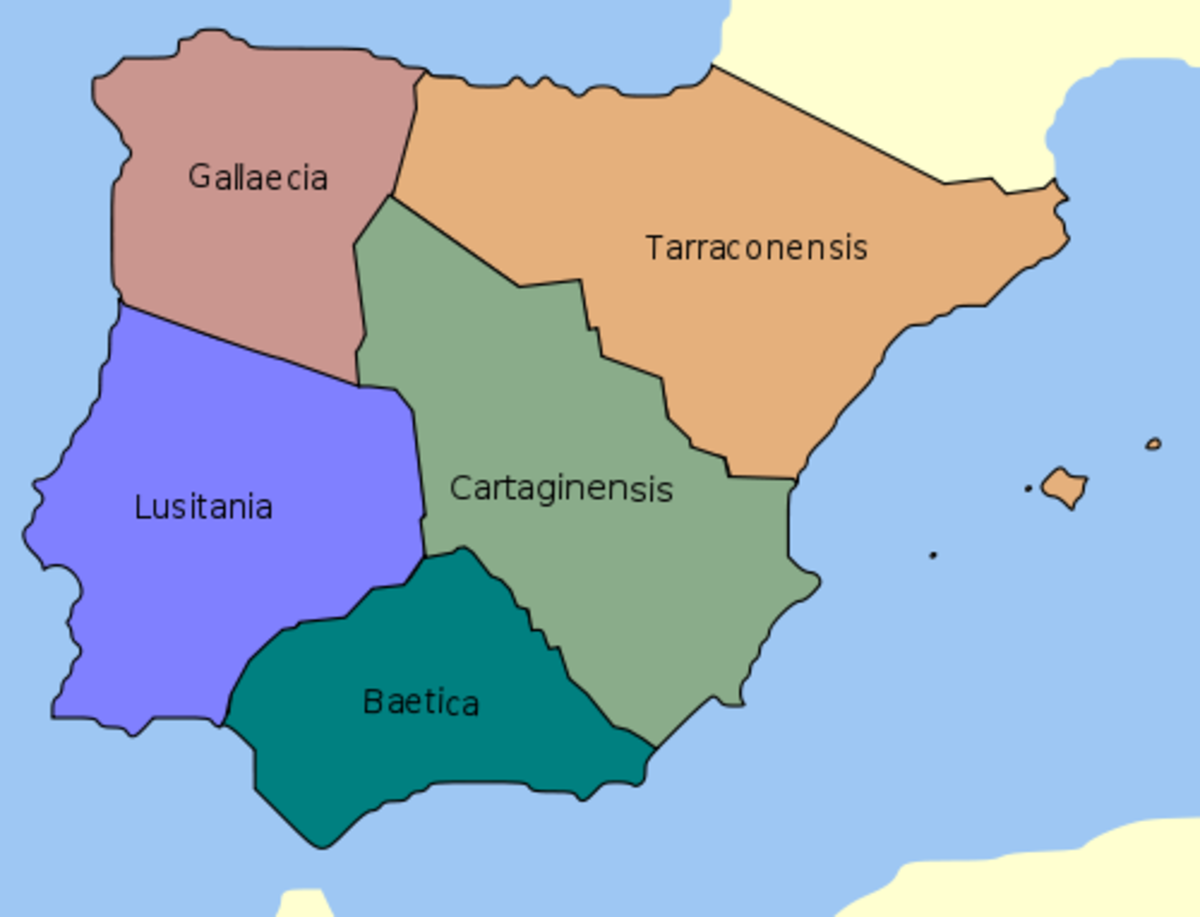 Roman  provinces of Hispania