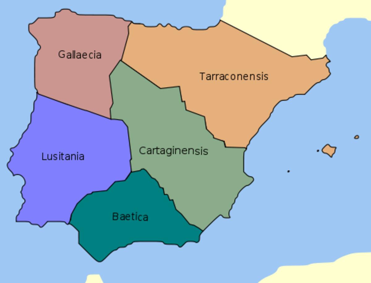 Roman  provinces of Hispania
