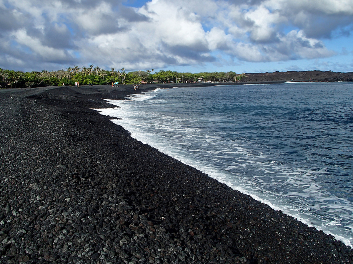 A new black sand beach.