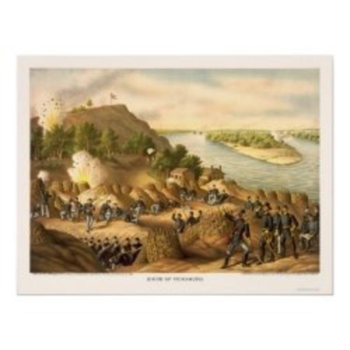 Siege of Vicksburg by Kurz and Allison 1863