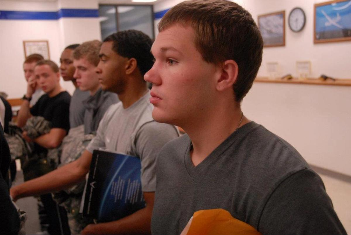 My son's first full day at Lackland Air Force Base.