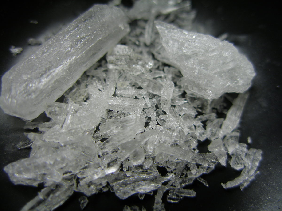 Meth actually looks pretty in crystal form.