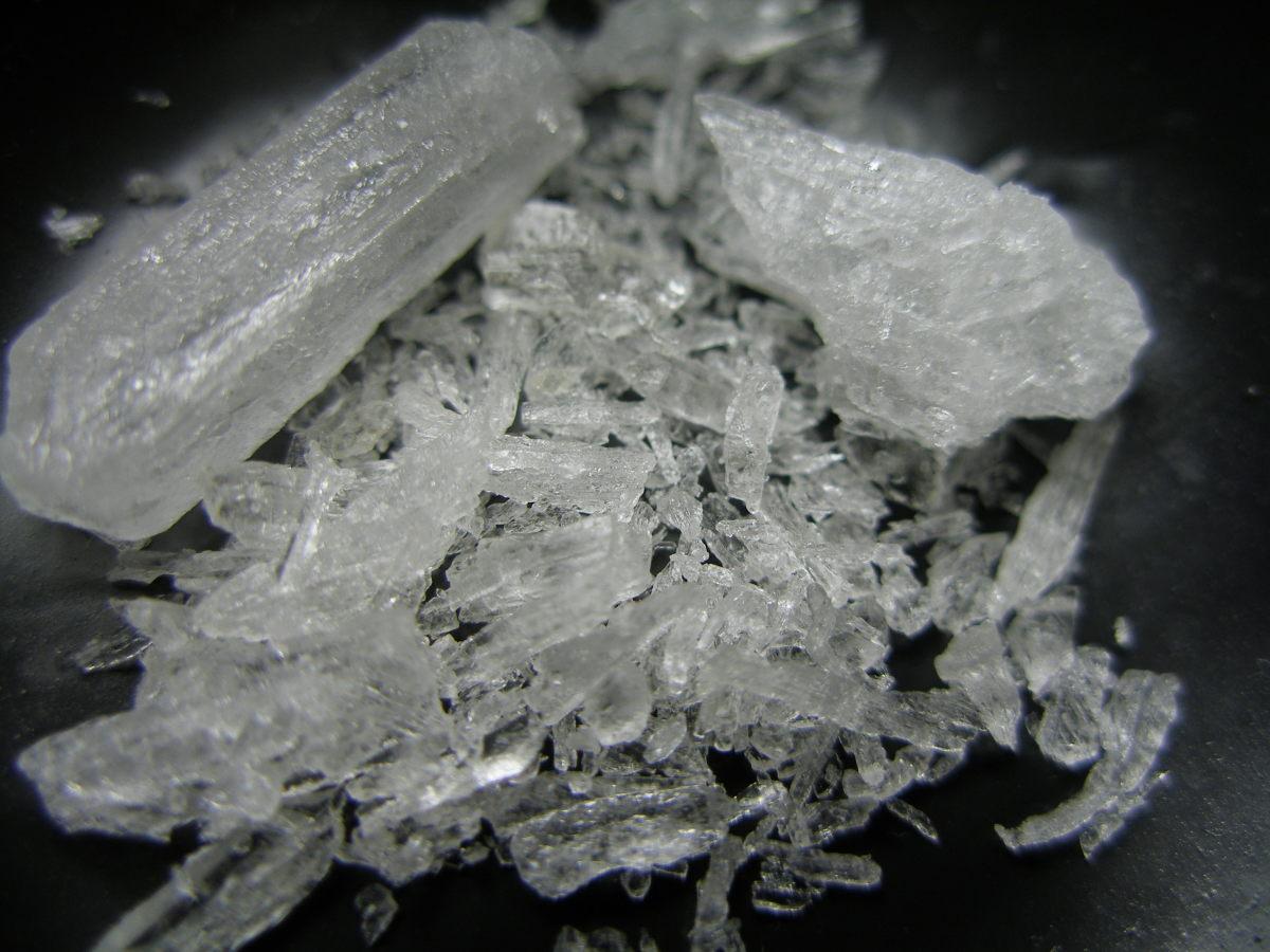 What does crystal meth look like