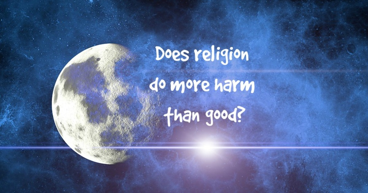 On balance, at the current time, religion may do more harm than good.
