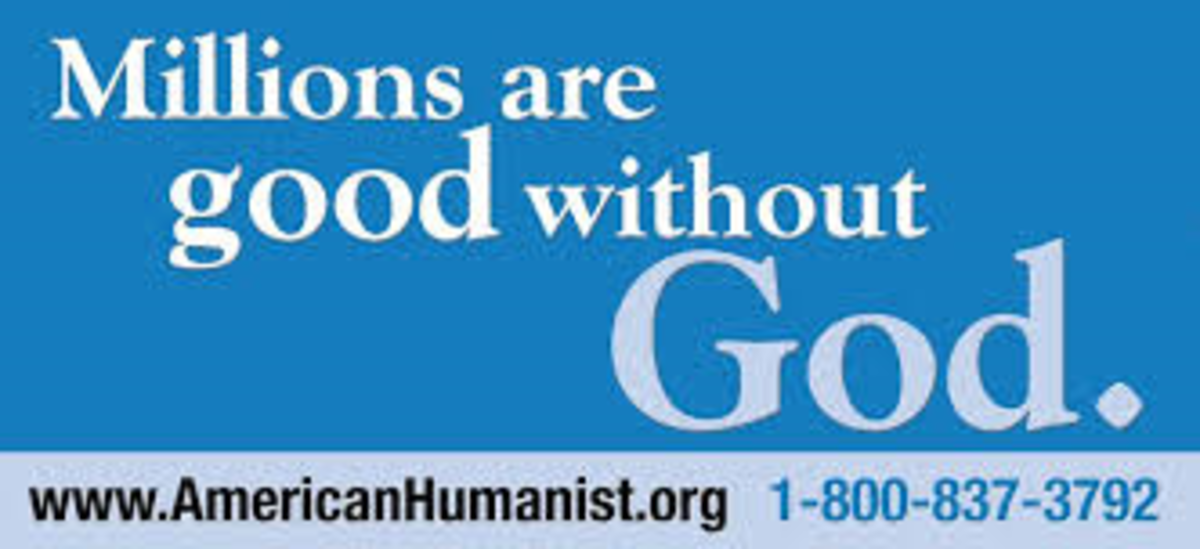 A billboard announcing that millions are good without God.