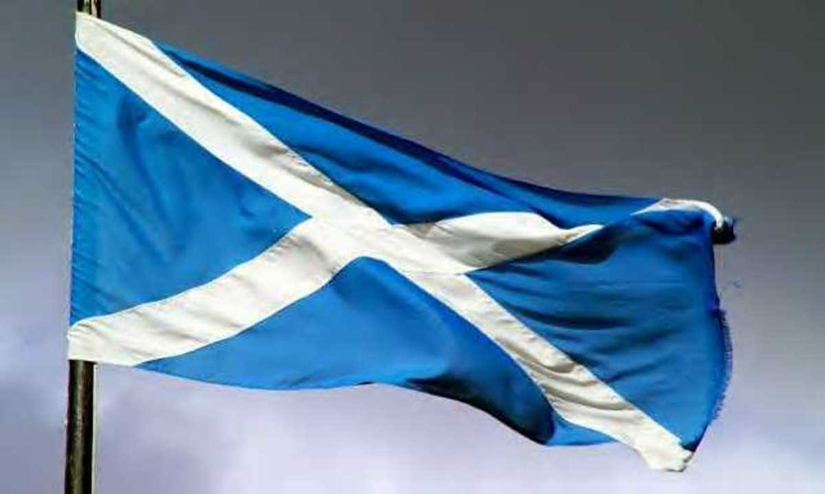 Scottish flag.