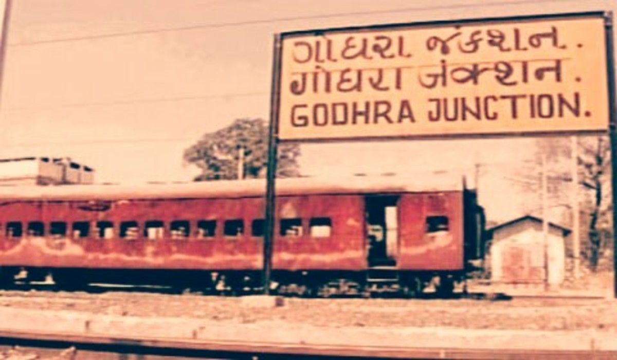 The S-6 bogie of the Sabarmati Express train that was set ablaze