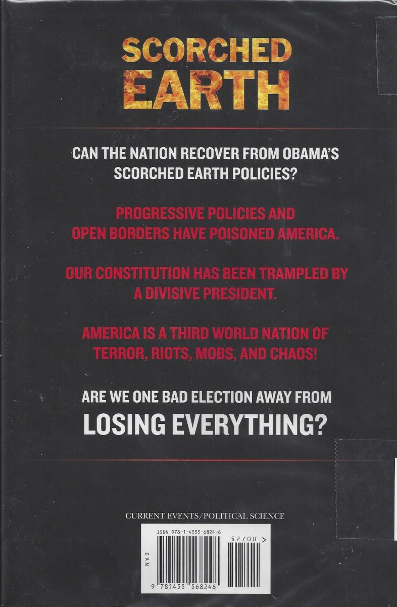 "Back cover of the book ""Scorched Earth"" by Michael Savage"