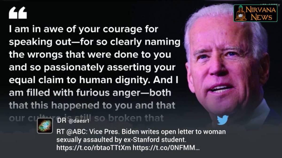Joe Biden offers his support for Emily Doe.