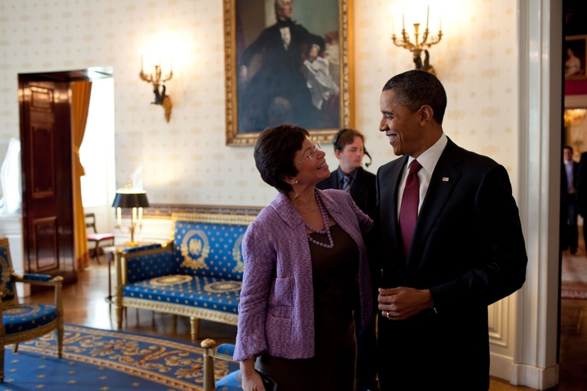 Valerie Jarrett with former President Barack Obama, in 2010.