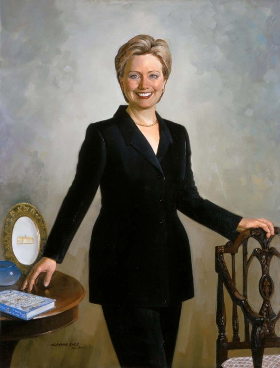 Hillary Rodham Clinton official White House portrait.