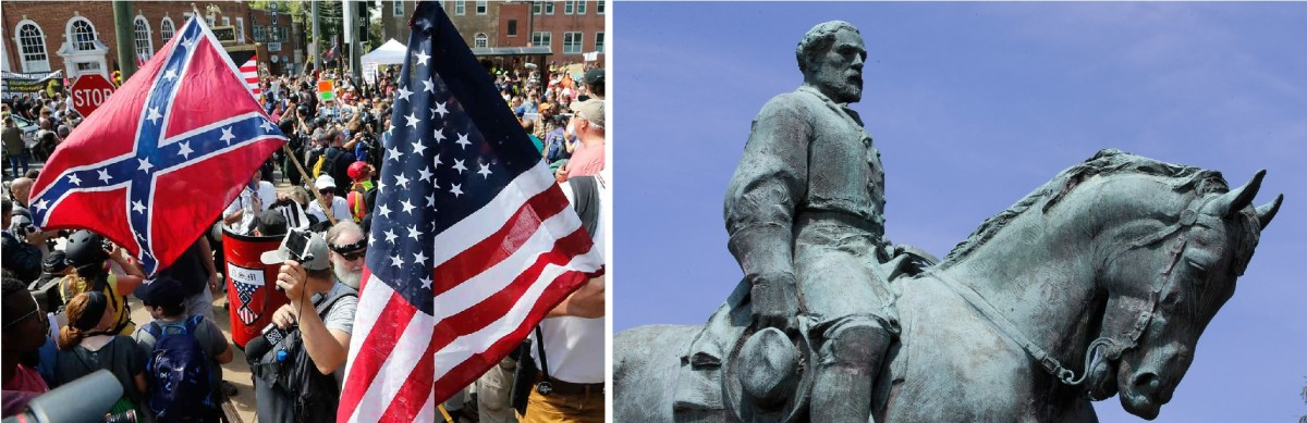 Unite the Right Rally (Charlottesville, VA - August 11-12, 2017) and statue of Confederate General Robert E. Lee