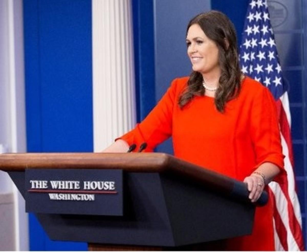 White House Press Secretary Sarah Huckabee Sanders