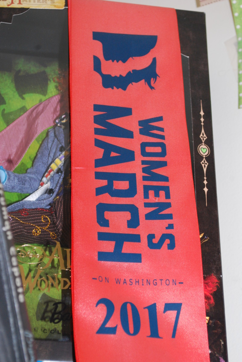 My sash from The Women's March in D.C. 2017