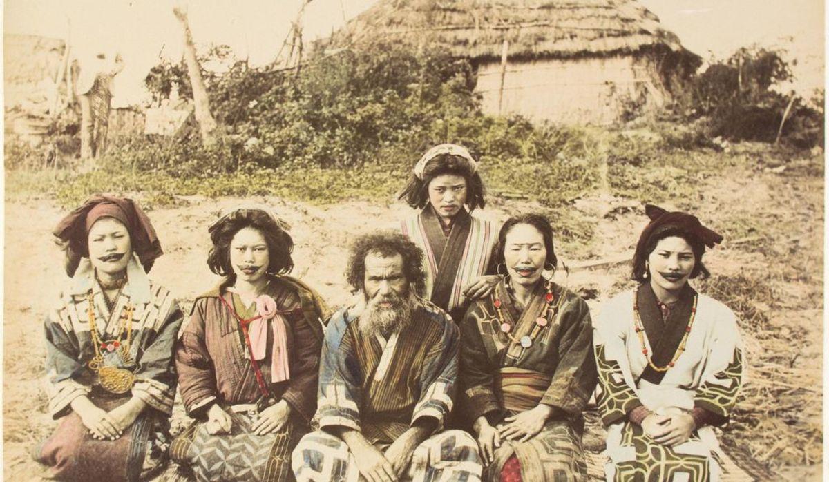Ainu men and women