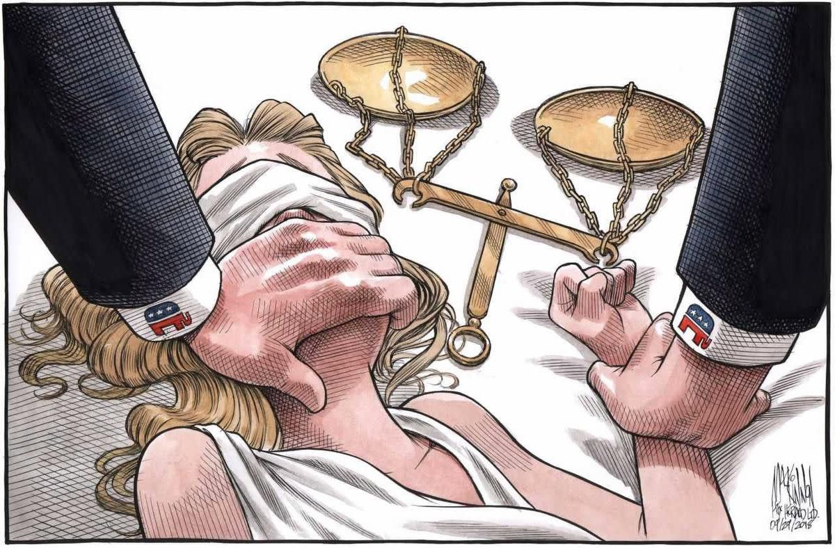 Bruce MacKinnon' cartoon based on Dr. Blasey Ford's testimony of sexual assault shook many women: To some, it was a gut punch.