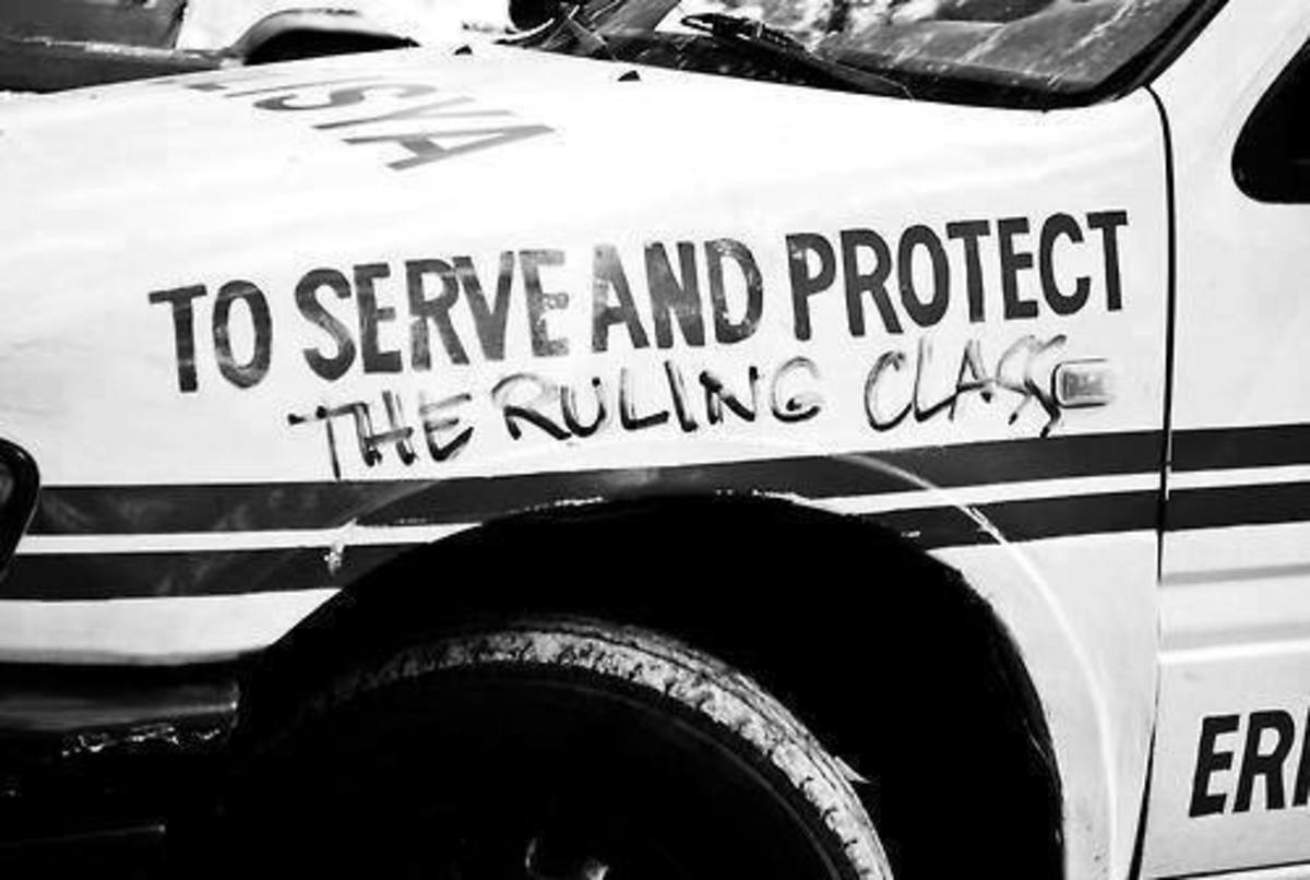 """Who or what do the police actually """"serve and protect?"""""""