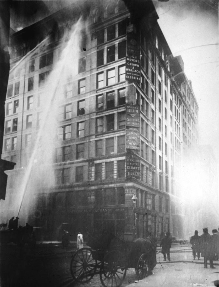 Fire at the Triangle Shirtwaist Factory.