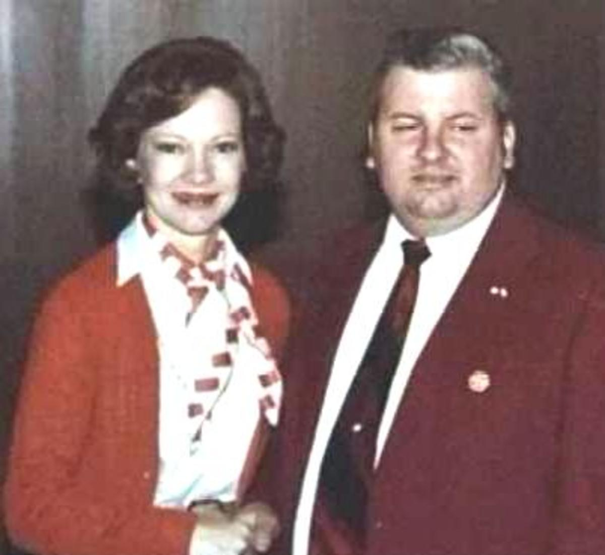 Gacy with First Lady Rosalynn Carter on May 6, 1978.