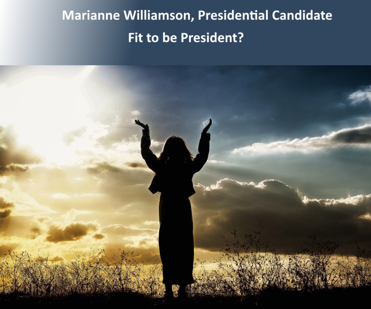 Illustration - not photo of Marianne Williamson
