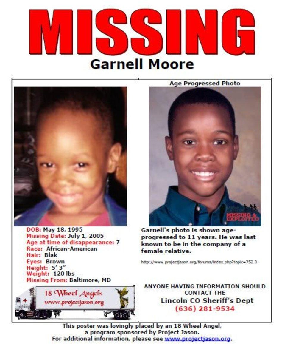 Missing: Garnell Monroe Moore