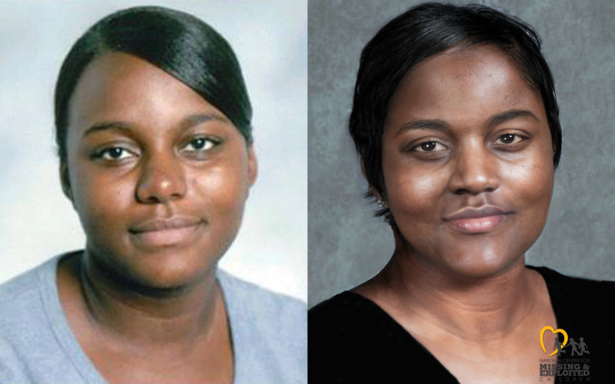 LaQuanta aged 19 and age progression to 34