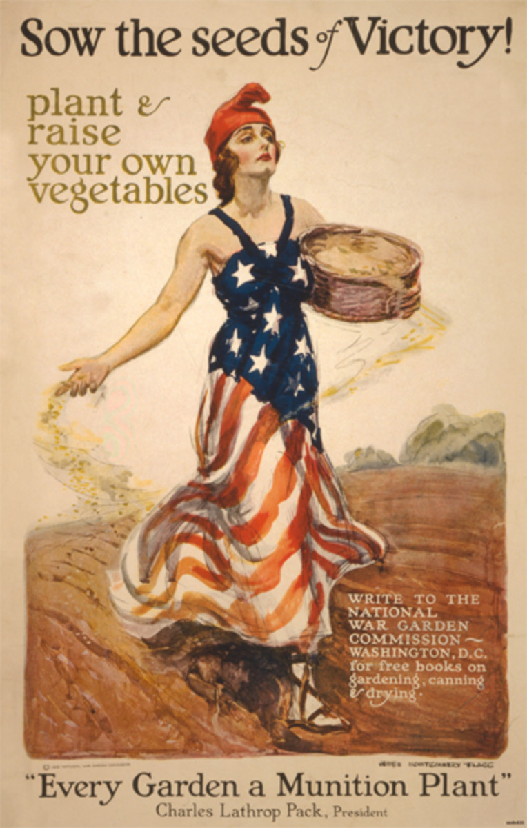 Poster Distributed by the National War Garden Commission.