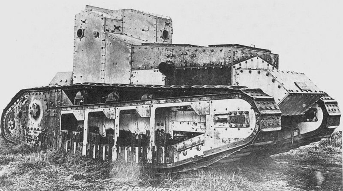 World War 1 History: The Medium Mark A Whippet Tank