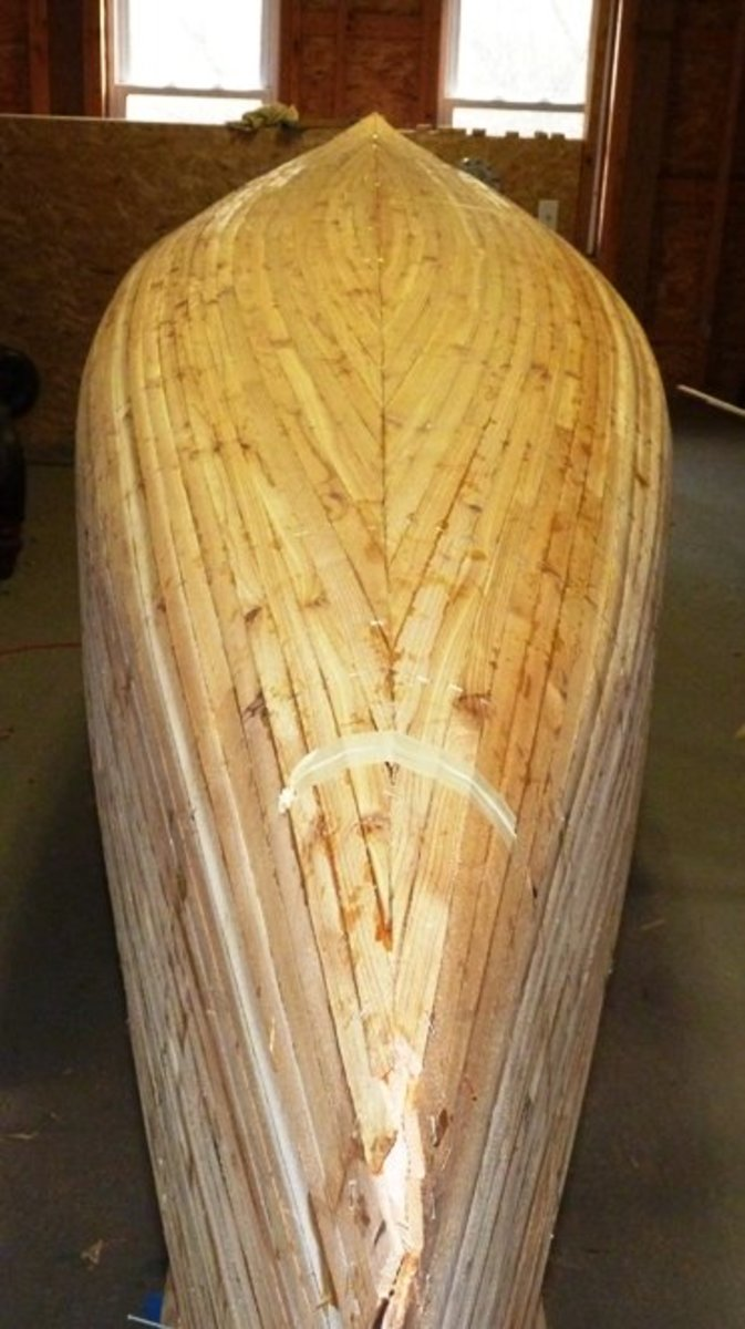 Building a Cedar Strip Canoe: The Details: Stripping the Hull