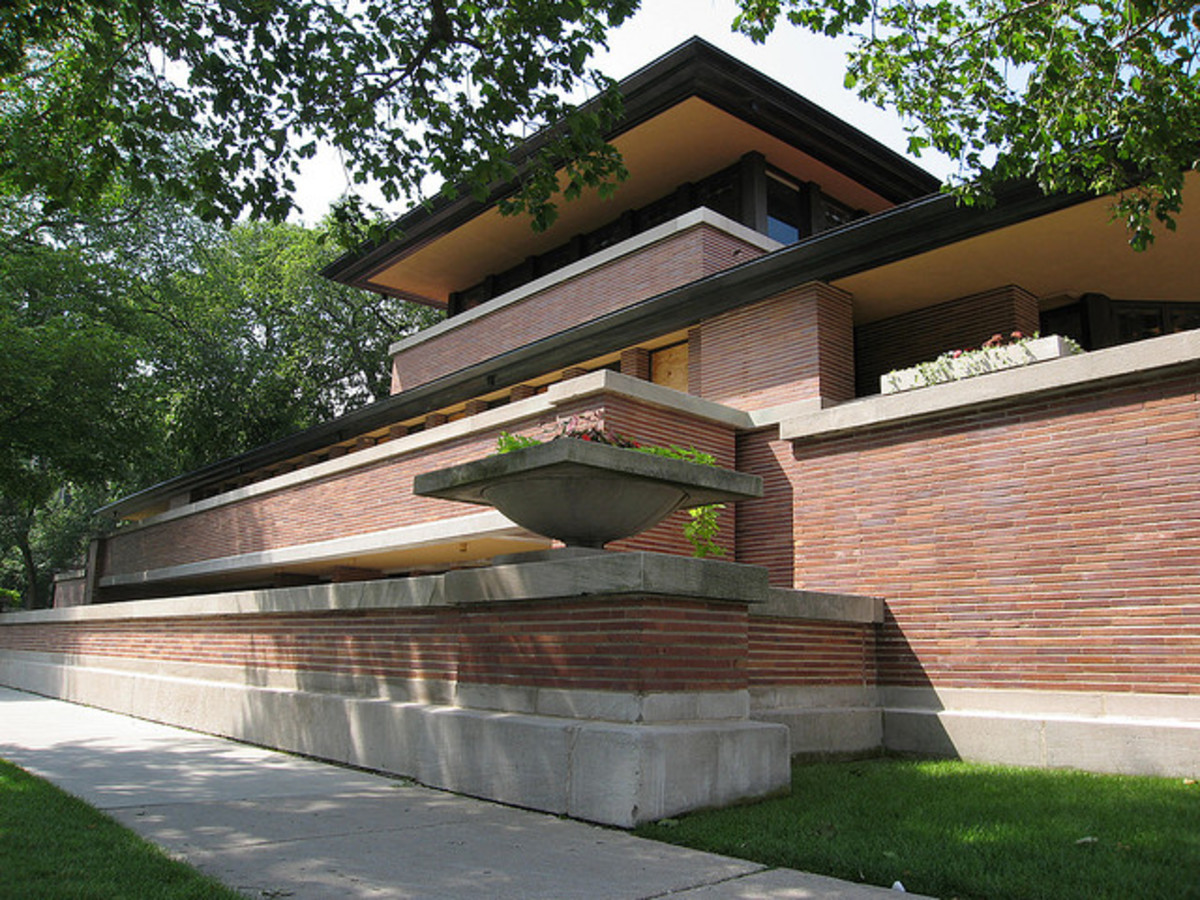 Frank Lloyd Wright's Robie House. This gorgeous example was completed in 1910 and still looks fresh.