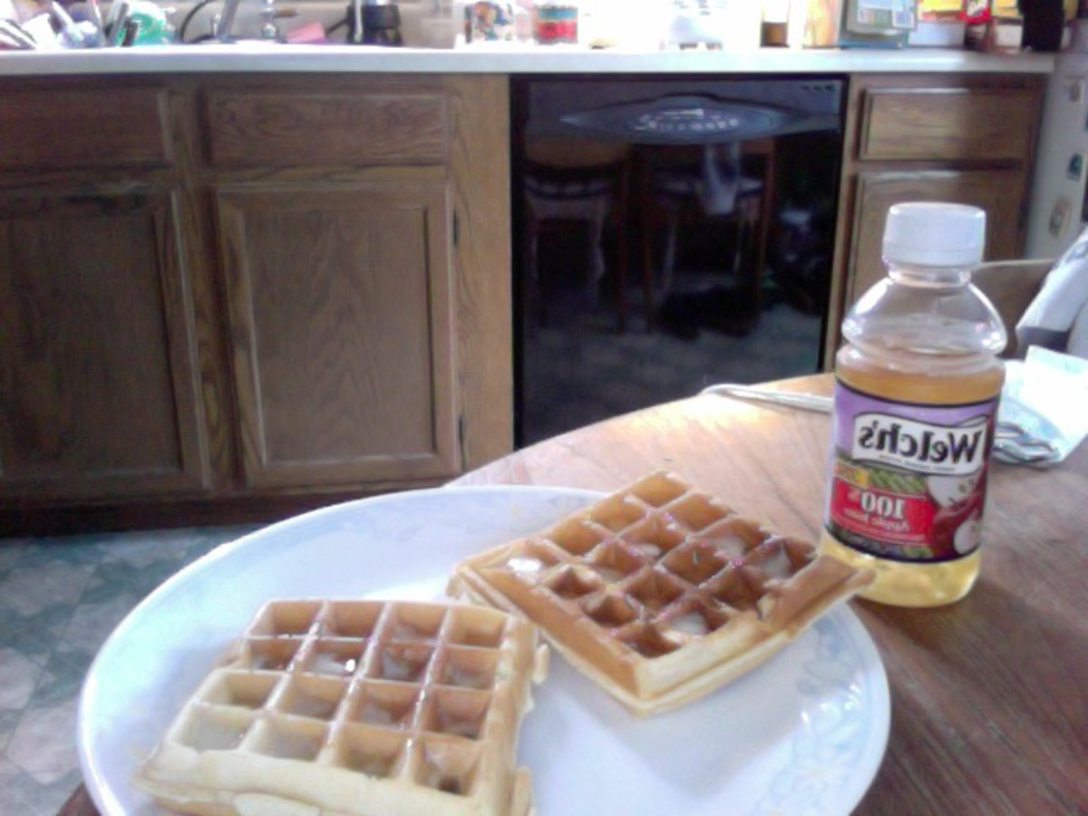 Delicious, buttery waffles...don't they look yummy?